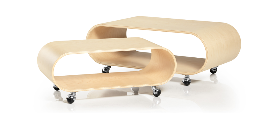 The Velodrome Table in Birch